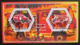 Poštovní známky Čad 2015 Hasičská auta Mi# N/N