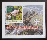 Poštovní známka Guinea-Bissau 2003 Želvy DELUXE neperf. Mi# 2579 B Block