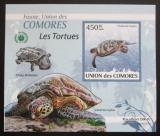 Poštovní známka Komory 2009 Želvy DELUXE neperf. Mi# 2344 B Block