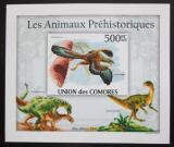 Poštovní známka Komory 2009 Dinosauři DELUXE neperf. Mi# 2647 B Block