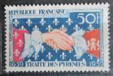 Poštovní známka Francie 1959 Pyrenejská smlouva, 300. výročí Mi# 1265