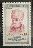 Poštovní známka Francie 1964 Papež Sylvester II. Mi# 1479