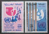Poštovní známky Maroko 1980 OSN, dekáda žen Mi# 931-32