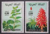 Poštovní známky Maroko 1984 Flóra Mi# 1048-49