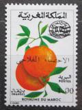 Poštovní známka Maroko 1974 Pomeranče přetisk Mi# 775