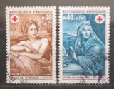 Poštovní známky Francie 1969 Červený kříž Mi# 1692-93