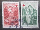 Poštovní známky Francie 1970 Červený kříž, fresky Mi# 1733-34