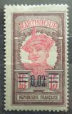 Poštovní známka Martinik 1922 Domorodkyně přetisk Mi# 82