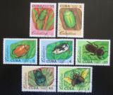 Poštovní známky Kuba 1988 Brouci Mi# 3192-98