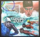Poštovní známka Burundi 2012 LOH Londýn, plavání neperf. Mi# Block 267 B