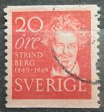 Poštovní známka  Švédsko 1949  August Strindberg, básník Mi# 346 A
