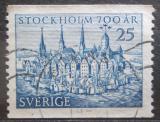 Poštovní známka Švédsko 1953 Stockholm, 700. výročí Mi# 383 A