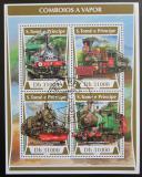 Poštovní známky Svatý Tomáš 2017 Parní lokomotivy Mi# 7274-77 Kat 12€