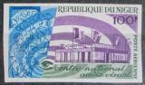 Poštovní známka Niger 1967 Televizní centrum neperf., vzácná Mi# 163 B