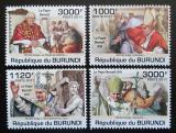 Poštovní známky Burundi 2011 Papež Benedikt XVI. Mi# 2186-89 Kat 9.50€