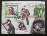 Poštovní známka Komory 2009 Lemuři Mi# Block 533 Kat 15€