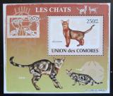 Poštovní známka Komory 2009 Kočky DELUXE Mi# 2206 Block