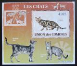 Poštovní známka Komory 2009 Kočky DELUXE Mi# 2208 Block