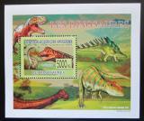 Poštovní známka Guinea 2009 Dinosauři DELUXE Mi# 6390 Block