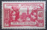 Poštovní známka Francouzské Somálsko 1937 Světová výstava v Paříži Mi# 144