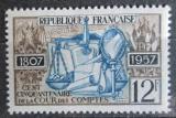 Poštovní známka Francie 1957 Nejvyšší kontrolní úřad, 150. výročí Mi# 1135