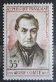 Poštovní známka Francie 1957 Auguste Comte, filozof Mi# 1156