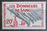 Poštovní známka Francie 1959 Dárcovství krve Mi# 1264