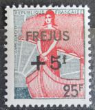 Poštovní známka Francie 1959 Marianne v lodi přetisk Mi# 1273