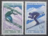 Poštovní známky Francie 1962 MS v lyžování Mi# 1379-80