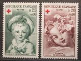 Poštovní známky Francie 1962 Červený kříž, umění Mi# 1418-19