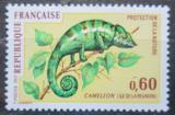 Poštovní známka Francie 1971 Chameleon pardálí Mi# 1771