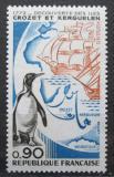 Poštovní známka Francie 1972 Tučňák a mapa Mi# 1780