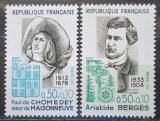 Poštovní známky Francie 1972 Osobnosti Mi# 1782-83