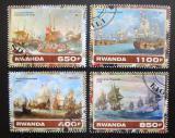 Poštovní známky Rwanda 2017 Válečné lodě Mi# N/N