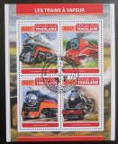 Poštovní známky Togo 2017 Parní lokomotivy Mi# 8244-47 Kat 13€