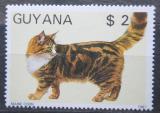 Poštovní známka Guyana 1988 Kočka Mi# 2086