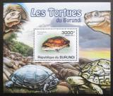 Poštovní známka Burundi 2011 Želvy DELUXE Mi# 2092 Block