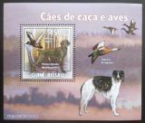 Poštovní známka Guinea-Bissau 2009 Lovečtí psi a kachny DELUXE Mi# 4486 Block