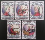 Poštovní známky Burundi 2013 Wolfgang Amadeus Mozart Mi# 3013-17 Kat 9.90€