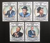 Poštovní známky Burundi 2013 Frank Sinatra Mi# 2983-87 Kat 8.90€