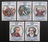 Poštovní známky Burundi 2013 Ludwig van Beethoven Mi# 3018-22 Kat 9.90€
