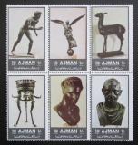 Poštovní známky Adžmán 1972 Bronzové sochy Mi# 2064-69 Kat 6€