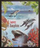 Poštovní známka Burundi 2012 Delfíni neperf. Mi# Block 246 B