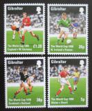 Poštovní známky Gibraltar 1998 MS ve fotbale Mi# 814-17