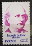 Poštovní známka Francie 1978 Leconte de Lisle, lyrik Mi# 2078
