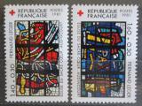 Poštovní známky Francie 1981 Červený kříž, umění Mi# 2295-96