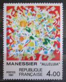 Poštovní známka Francie 1981 Umění, Alfred Manessier Mi# 2298