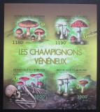 Poštovní známky Burundi 2012 Jedovaté houby neperf. Mi# 2743-46 B