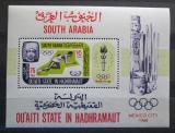 Poštovní známka Aden Qu aiti State 1967 LOH Mexiko Mi# Block 7 A Kat 12€