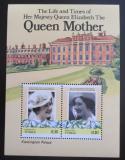 Poštovní známky Tuvalu, Nukufetau 1985 Královna Matka, 85. narozeniny Mi# Block 1